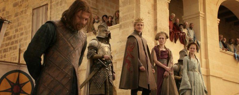 Game of Thrones 1 sezonunun ikonik şok edici bükümü Malta'daki Fort Manoel'de çekildi.
